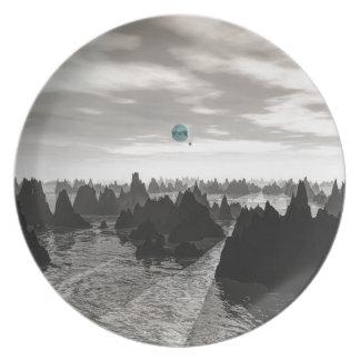 Prato Esferas azuis misteriosas