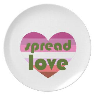 Prato Espalhe o amor lésbica