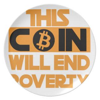 Prato Esta moeda terminará a pobreza