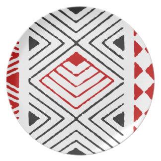 Prato Estampa indígena nº 04