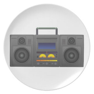 Prato estilo Boombox de Hip Hop dos anos 80