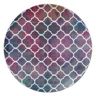 Prato Estilo cor-de-rosa do marroquino do Grunge