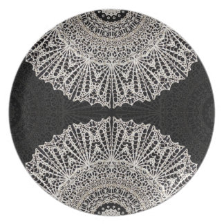 Prato Estilo G384 de Mehndi da mandala da placa