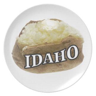 Prato Etiqueta da batata de Idaho