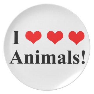 Prato Eu amo animais!