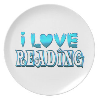 Prato Eu amo ler