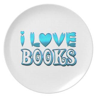 Prato Eu amo livros