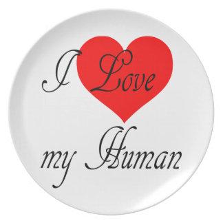 Prato Eu amo meu ser humano