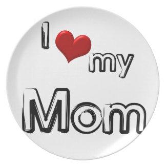 Prato eu amo minha mamã