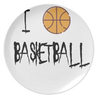 Prato Eu amo o basquetebol