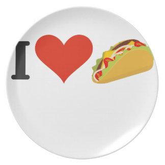 Prato Eu amo o Tacos para amantes do Taco