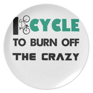 Prato Eu dou um ciclo para consumir a louca, bicicleta