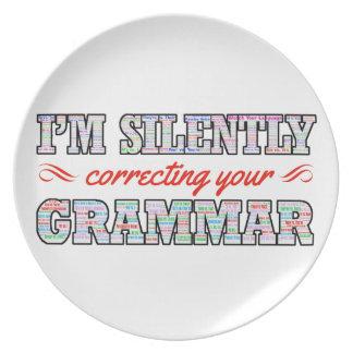 Prato Eu estou corrigindo silenciosamente sua gramática