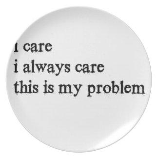 Prato eu importo-me o cuidado que de i sempre este é meu