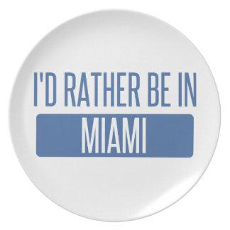 Prato Eu preferencialmente estaria em Miami