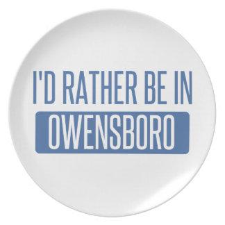 Prato Eu preferencialmente estaria em Owensboro