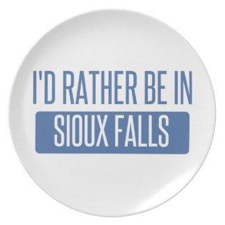 Prato Eu preferencialmente estaria em Sioux Falls