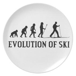 Prato Evolução do esqui