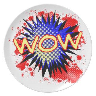 Prato Exclamação cómica do wow