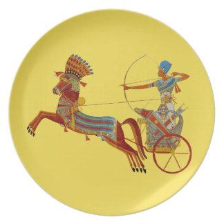 Prato Faraó na placa da melamina do Chariot