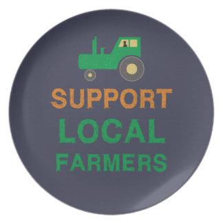 Prato Fazendeiros do Local do apoio