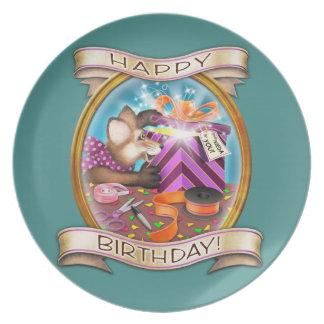 Prato Feliz aniversario - Frieda ata a placa collectible
