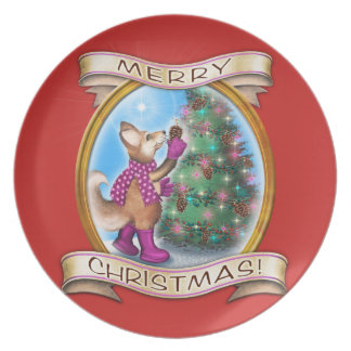 Prato Feliz Natal - Frieda ata a placa collectible