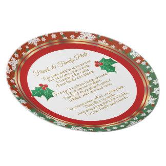 Prato Feliz Natal que compartilha da placa
