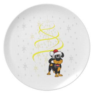 Prato Filhotes de cachorro do Natal