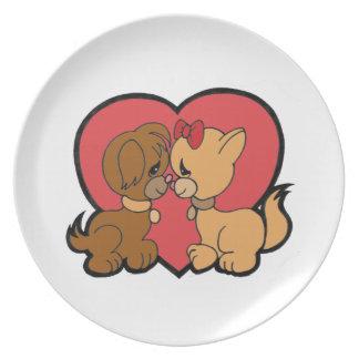 Prato Filhotes de cachorro no amor