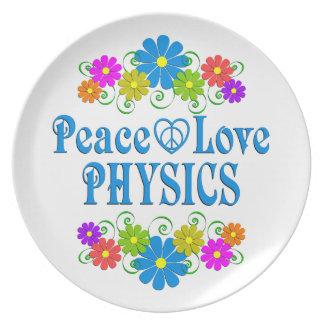 Prato Física do amor da paz