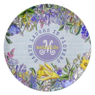 Prato Flores do Victorian do vintage dos Wildflowers do