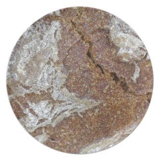 Prato Foto macro da superfície do pão de mistura de Ger