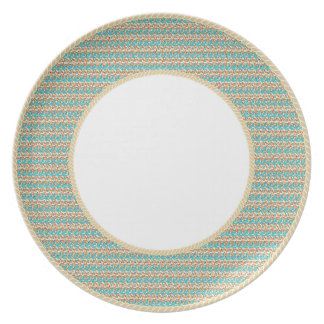 Prato Francês-Ouro-Weave-Bonito-Diário-Louça