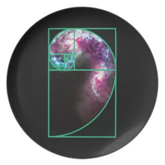 Prato Galáxia espiral de Fibonacci