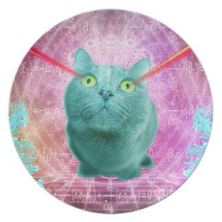 Prato Gato com olhos do laser