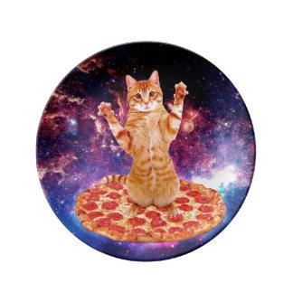 Prato gato da pizza - gato alaranjado - espace o gato
