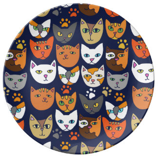 Prato Gatos Caturday diário do gatinho