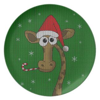 Prato Girafa do Natal