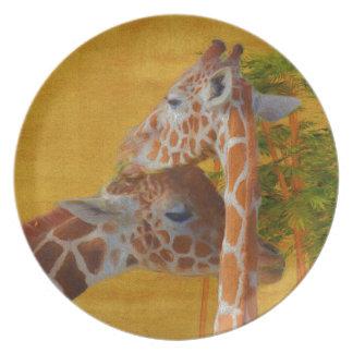 Prato Girafas doces - pintura