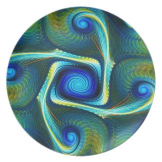 Prato Gnarl a placa da melamina do labirinto