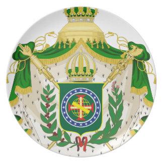Prato Grandes Armas do Império do Brasil.