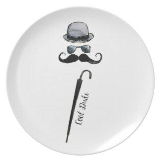 "Prato Guarda-chuva ""gajo legal "" do bigode do chapéu do"