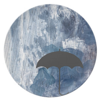 Prato Guarda-chuva no chá azul