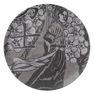 Prato Guerreiro da flor de cerejeira por Carter L