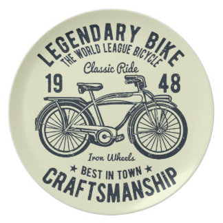 Prato Habilidade legendária da bicicleta da bicicleta