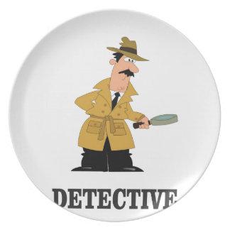 Prato homem do detetive