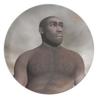 Prato Homo erectus masculino - 3D rendem