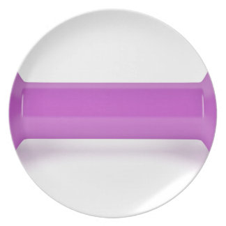 Prato Ideia dianteira do dumbbell cor-de-rosa