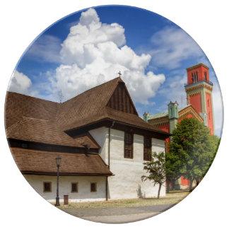 Prato Igreja articulaa de madeira em Kezmarok, Slovakia